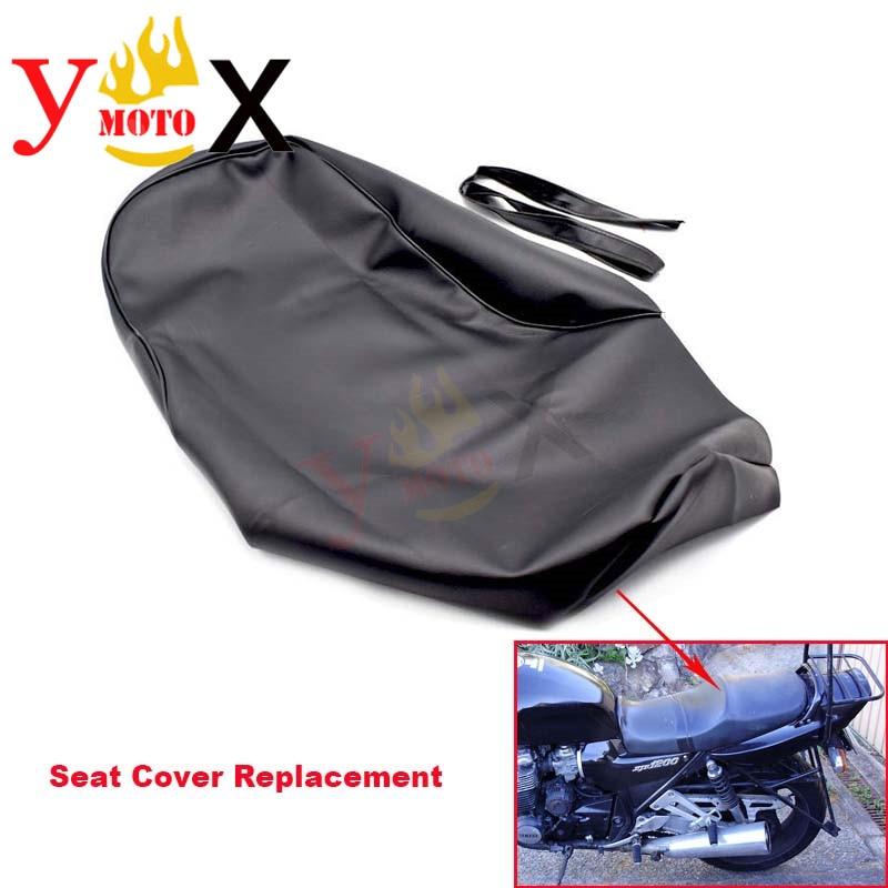 Cojín para asiento de motocicleta de cuero PU negro, protección de protección impermeable, reemplazo para Yamaha XJR1200 XJR 1200