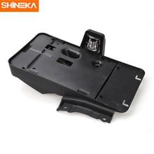 SHINEKA ABS voiture extérieur arrière plaque dimmatriculation support de support avec 12V décoration lumineuse pour Jeep Wrangler 2007 + voiture style