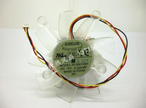R128015DH 12 V 0.32A 3 línea 8 cm tarjeta gráfica ventilador agujero distancia 43 MM