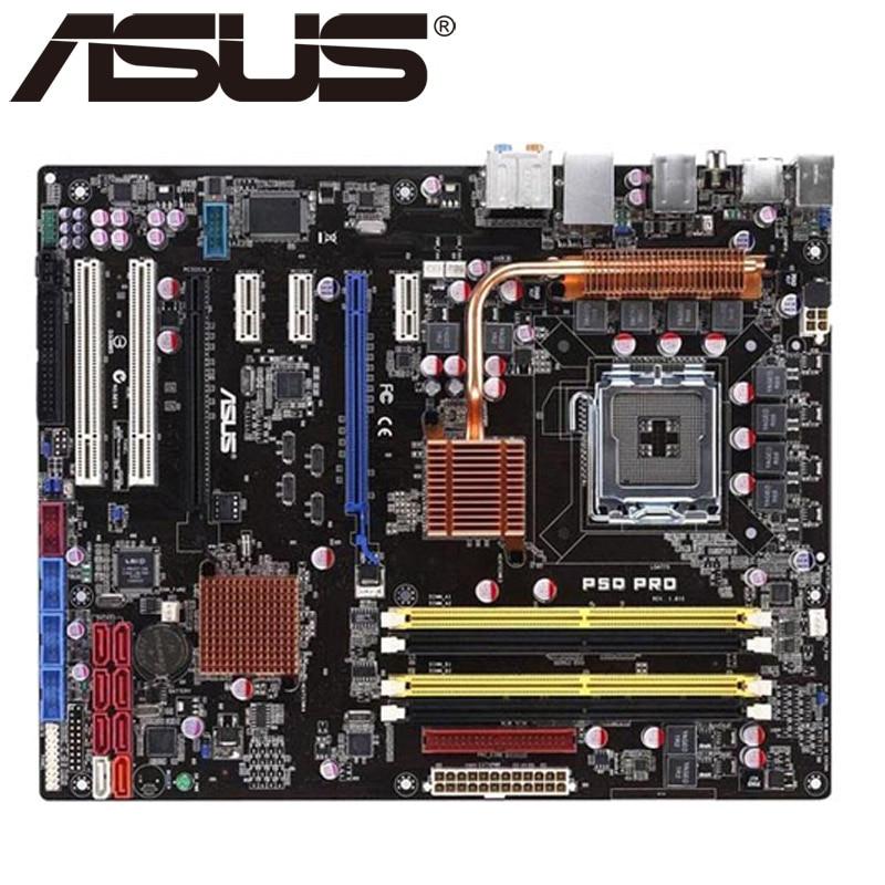 Asus P5Q Pro Desktop Motherboard P45 Socket LGA 775 For Core 2 Duo Quad DDR2 16G ATX UEFI BIOS Original Used Mainboard On Sale