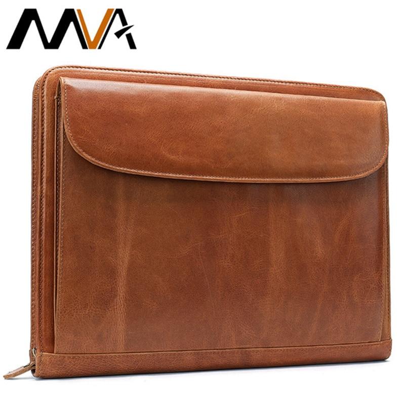 Mva bolsa de embreagem para homens saco de documento de couro a4 pasta de arquivo sacos masculino titular do cartão de embreagem sacos carteira de armazenamento bolsa 8704