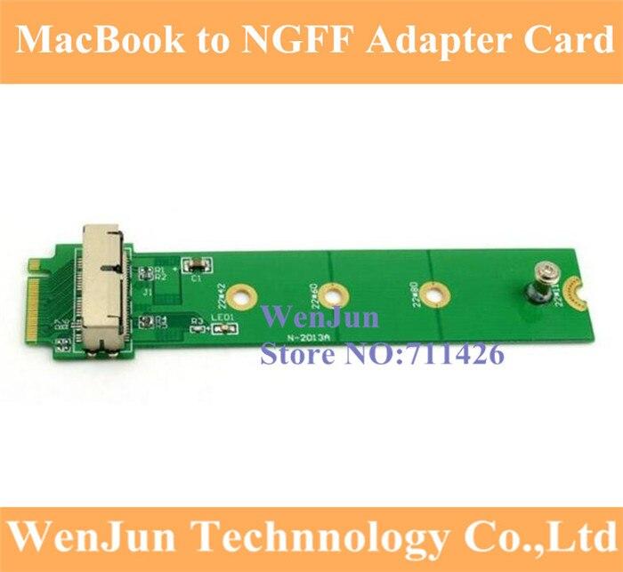 Envío Gratis PCI Express PCI-E 4X M.2 NGFF m-key a 2013 2014 2015 para Apple MacBook Tarjeta de conversión SSD A1493 A1502 A1465 A1466