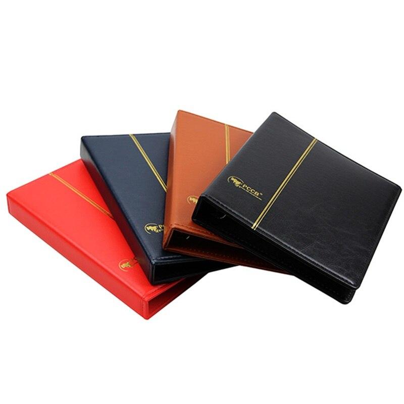 3 buracos de couro vazio moeda álbum papel dinheiro mais 20 folhas comemorativa coleção moeda álbum pasta livros para moedas
