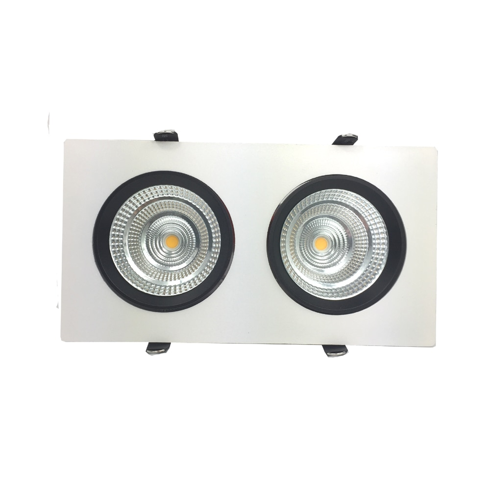 Adjustable 2 Lamps Panel Downlight 2x9W 2x15W