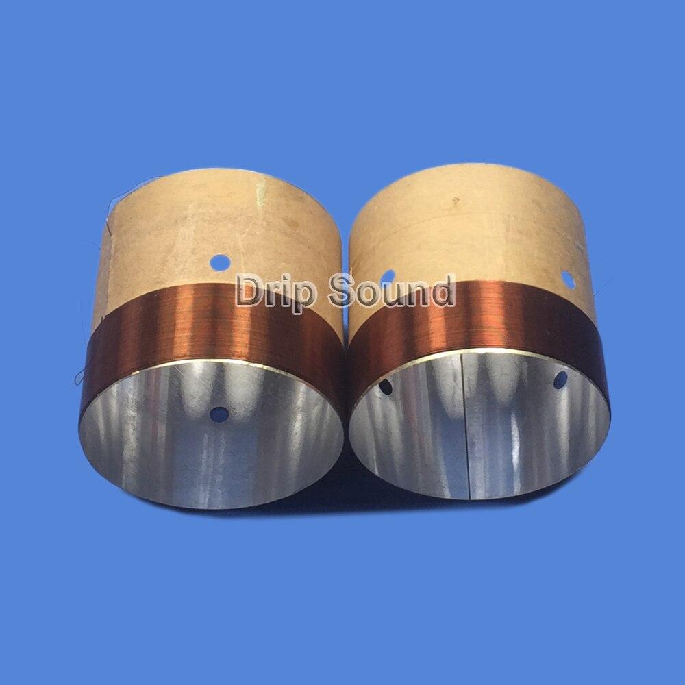 2 uds 62,8mm 62,8 Core 8ohm bajo Bobina de voz ASV de aluminio blanco Woofer sonido disco altavoz piezas de reparación