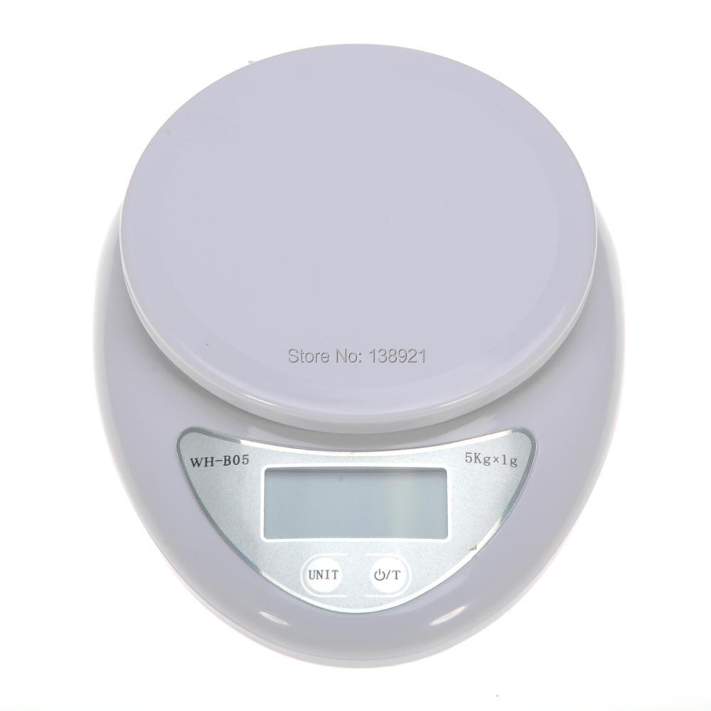 Báscula Digital de cocina 5kg 1g balanza electrónica LCD balanza romana para alimentos peso de medición alimentado por batería