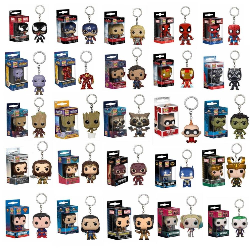 Брелок Funko POP, чудо-яд, персонажи «Мстителей», чудо-женщины, Aquaman, Batman, экшн-фигурка, Коллекционная модель игрушки