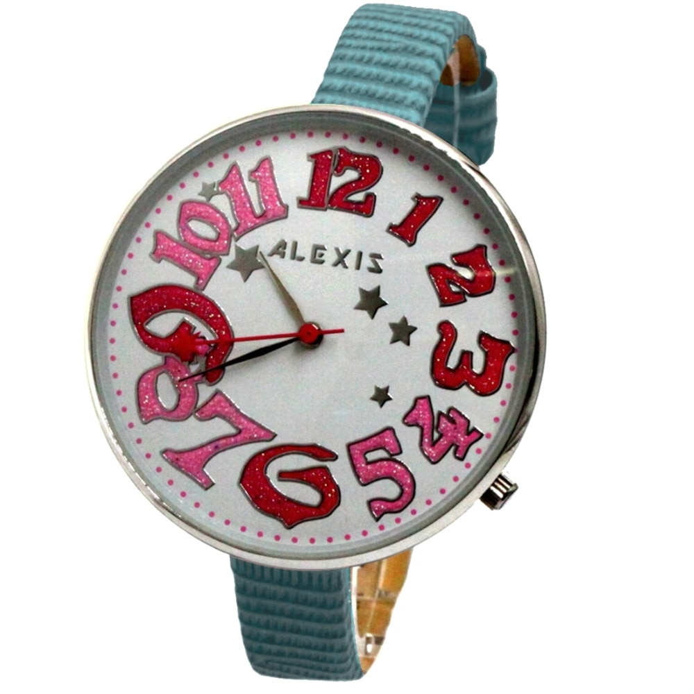 Alexis Female Analog Quartz Round Watch Japan PC21J Movement Geninue Leather Strap White Dial Water Resistant enlarge