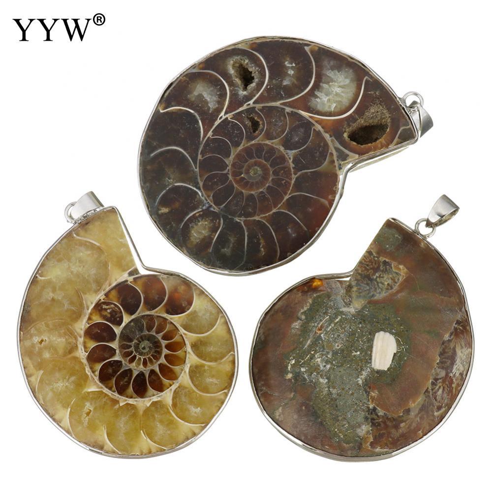 Boêmio natural trompete concha pingentes com bronze concha cor prata praia jóias pingentes para diy colar fazendo a descoberta
