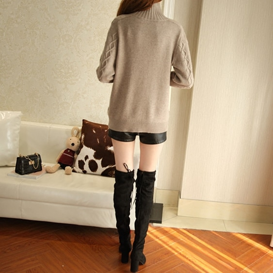 2020 Poncho Women Solid Sweater Hot Sale Wool Full Pullover Winter New Cashmere Heavy Gem Beading Beads Semi-high Knit Warm enlarge