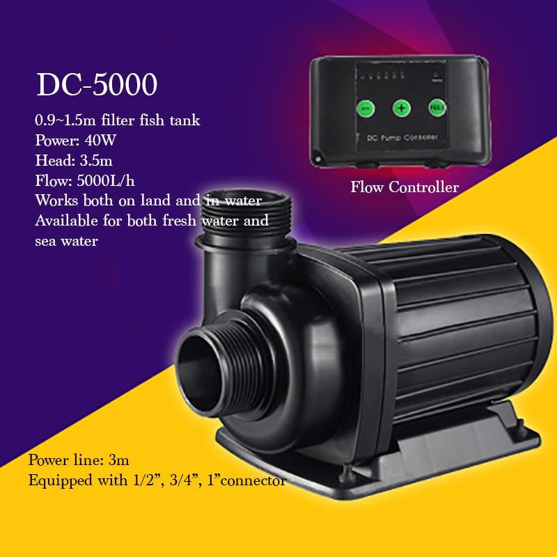Bomba sumergible eléctrica de uso en tierra/agua de alta calidad DC-5000 para filtro de pecera 40W 5000L/h bomba de agua súper silenciosa
