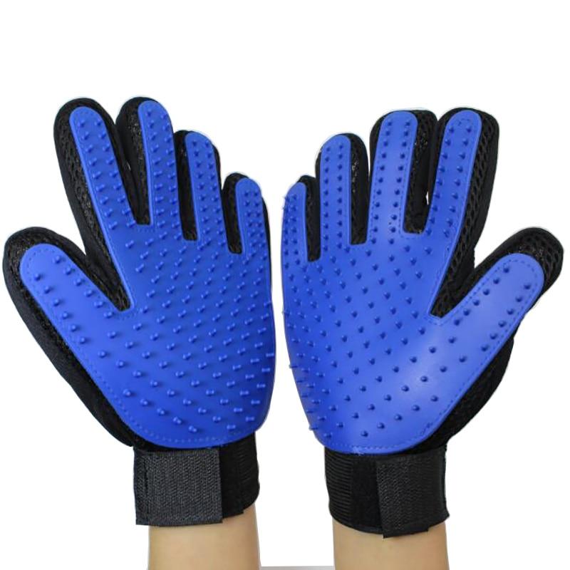 Accesorios para gatos, accesorios para gatos, guantes de silicón, cepillo para gatos, guantes de cinco dedos, suministro de limpieza para el cabello