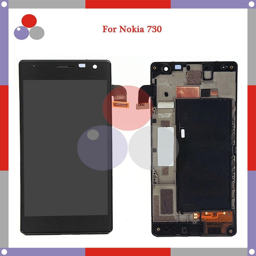 Para Nokia Lumia 730 735 LCD digitalizador asamblea de pantalla táctil digitalizador Asamblea reemplazo de partes