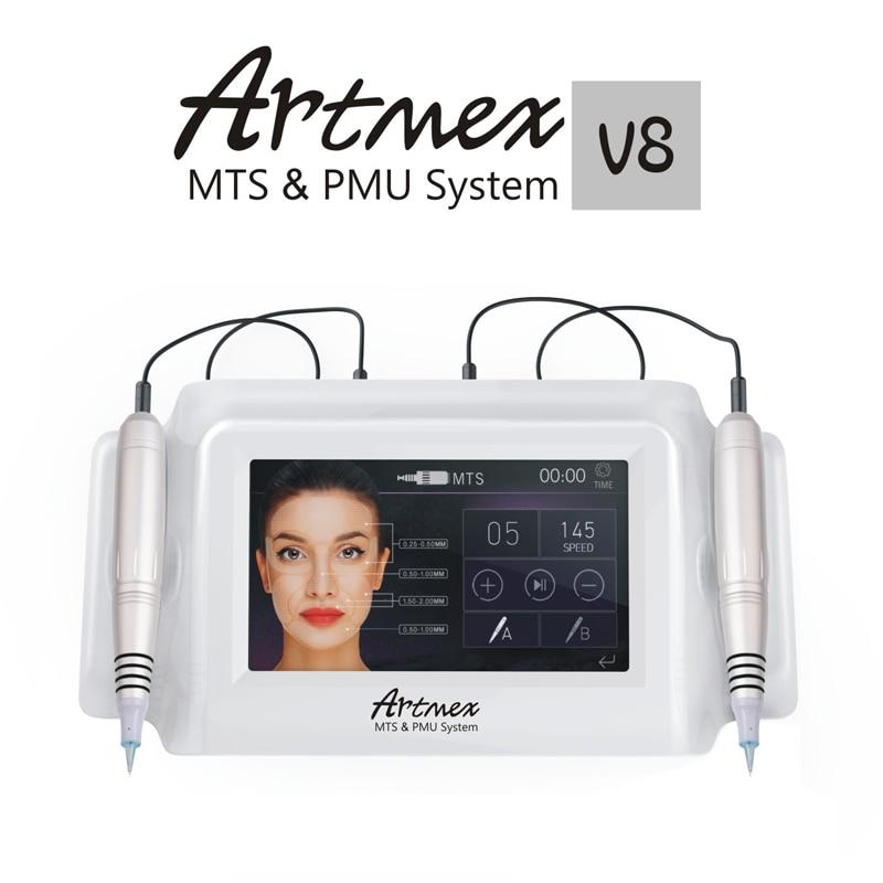 Artmex V8 Permanent Makeup Tattoo Machine Eyebrow Eyeliner Lips MTS Tattoo Gun Facial Therapy Anti Ageing Tattoo Machines