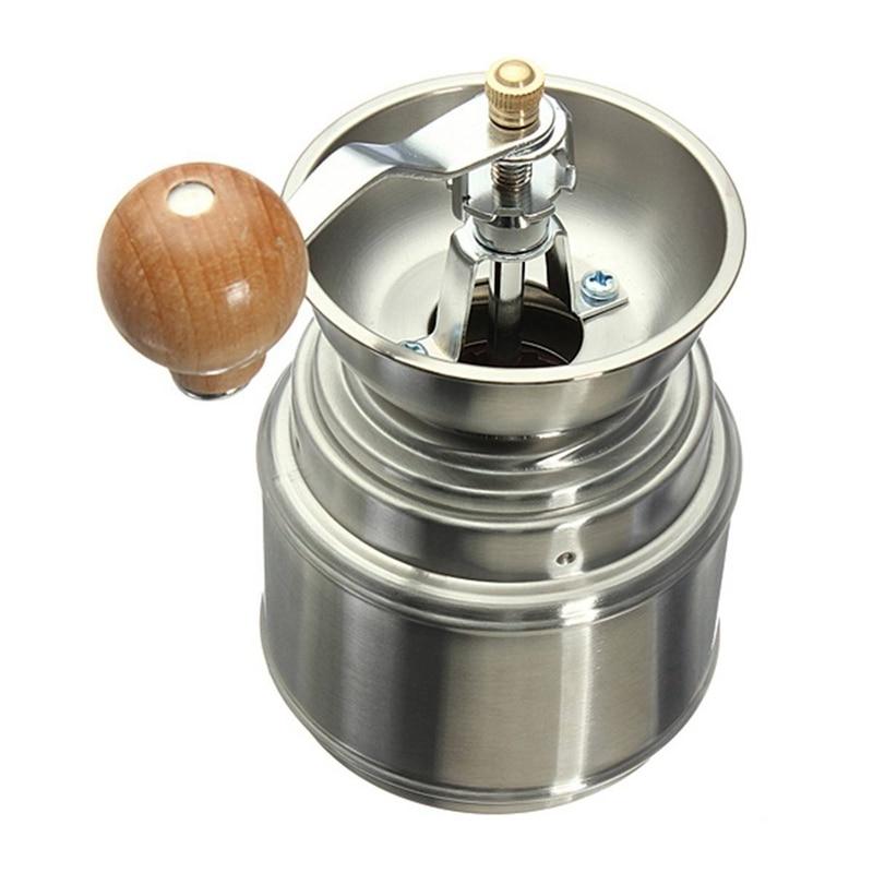 Gran oferta de molinillo de café Manual de acero inoxidable con núcleo de cerámica