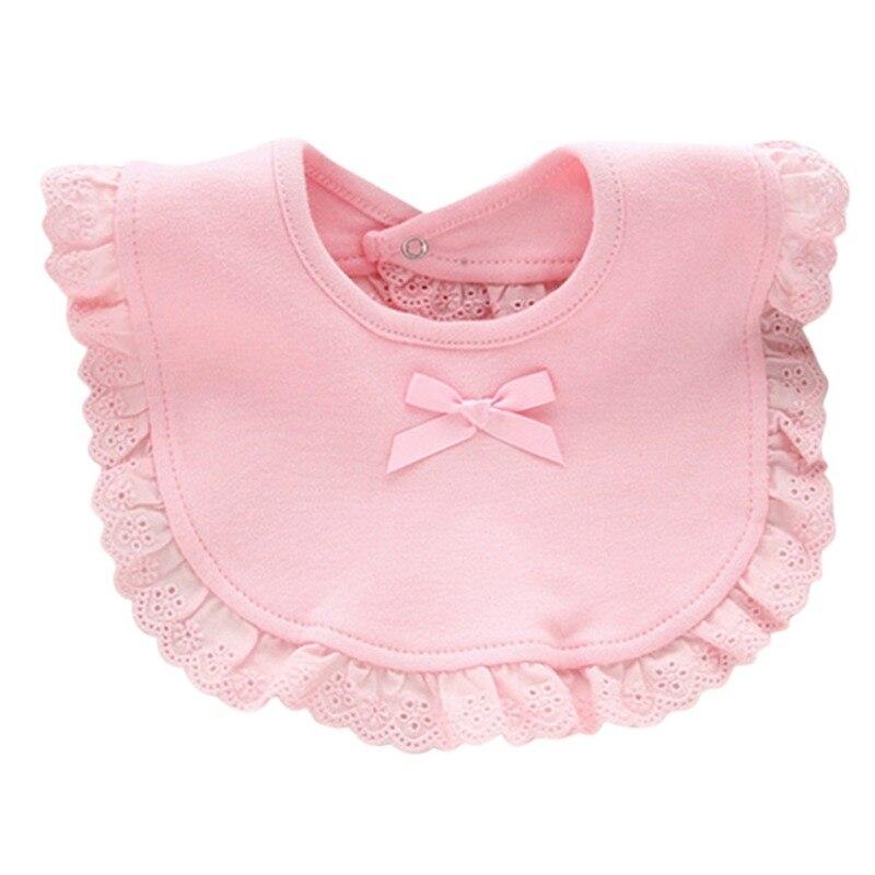 Bebé, Baberos Corton botón Baberos algodón arco encaje babero impermeable, de saliva toallas