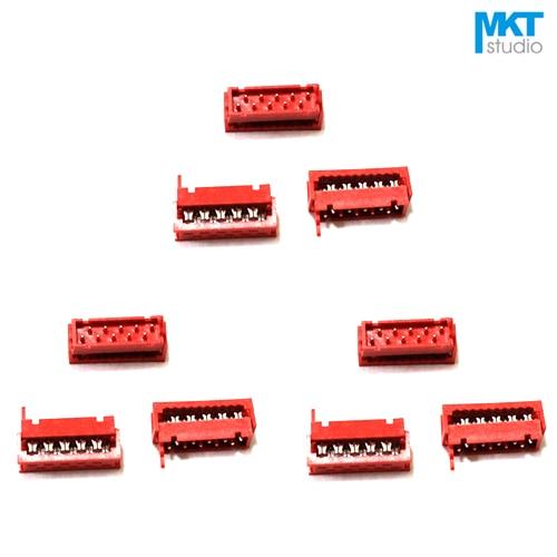 100 pcs Micromatch Vermelho 2.54mm Pitch IDC Box Header Feminino 10 8 6 4 p p p p