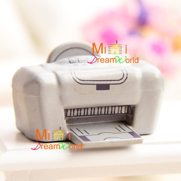 Máquina de fax con decoración en miniatura para casa de muñecas 112