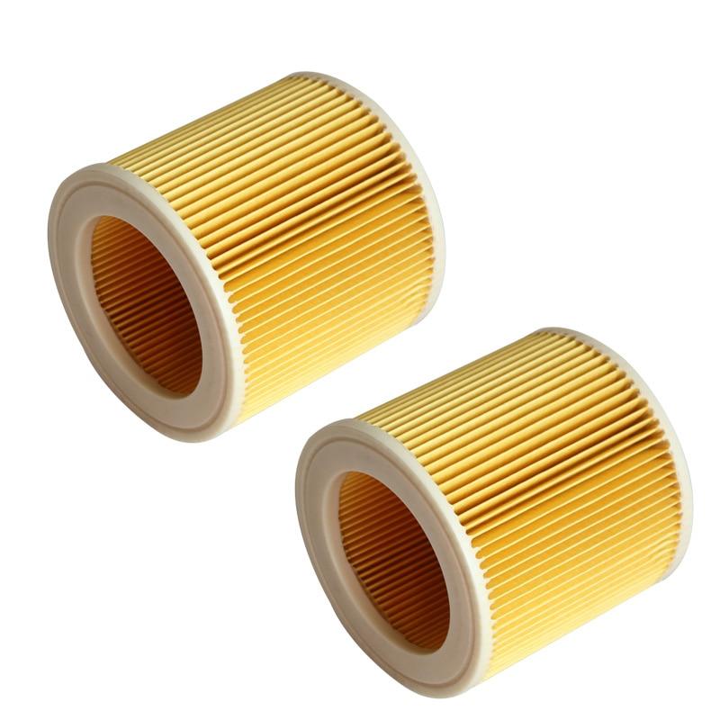 2 stück Luft ersatz staub filter tasche HEPA-filter für karcher WD 2,250 WD 3,200 MV2 MV3 WD3 filter vakuum staubsauger teile