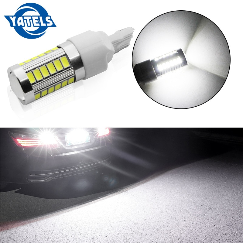 1PCS T20 7440 W21W WY21W 33 smd 5730 5630 LED Auto Gelb Bernstein Blinker Birne Rot Brems licht weiß Auto Umge Lampen 12V