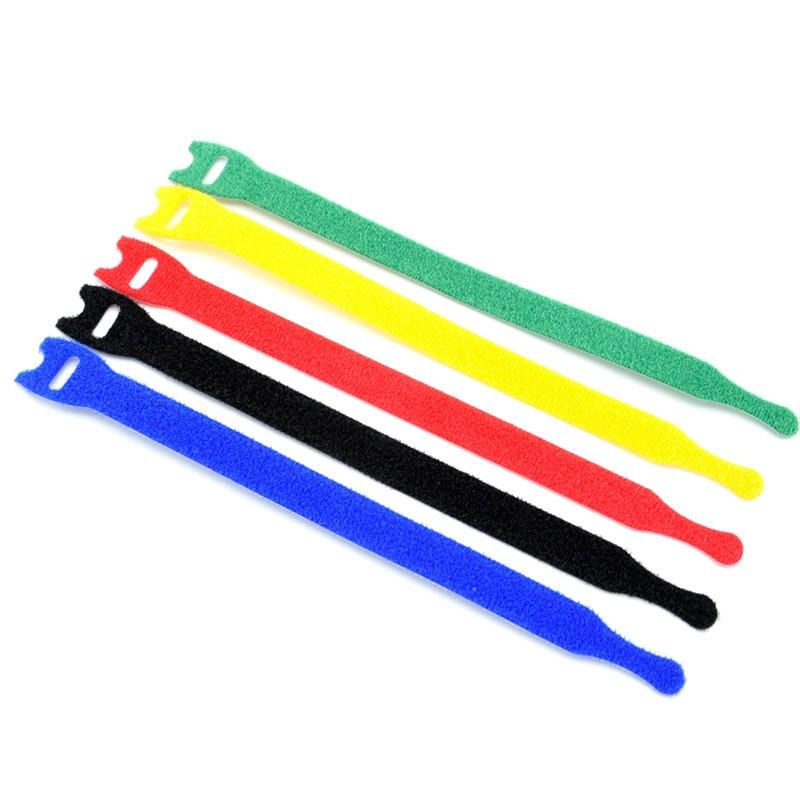 Correa de Velcro para organizar Cables, cinta organizadora de 13x205mm, 10 unidades