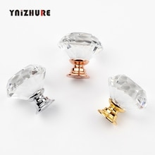 YNIZHURE брендовые Хрустальные стеклянные ручки для шкафа ручки для выдвижных ящиков кухонные ручки для шкафа оборудование для обработки мебели