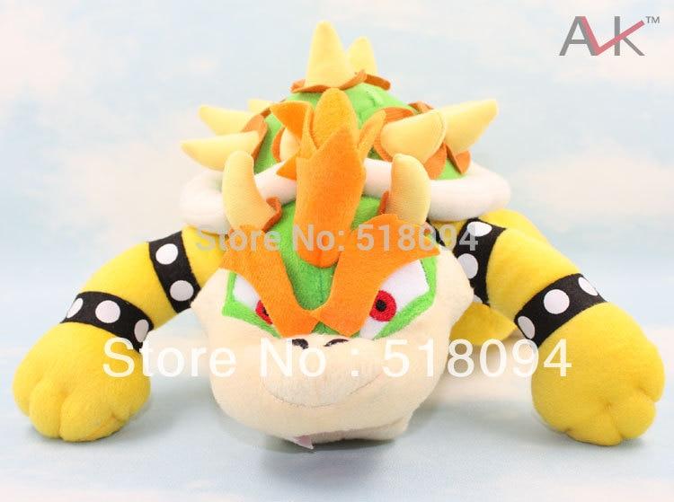 "Envío Gratis, Super Mario Bros Bowser, juguetes de peluche, Dragon Bowser Koopa, muñecos de peluche suaves de 10 ""26 CM SMPD110"