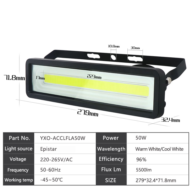 LED Flood Light 50W 100W 150W AC 220V-240V IP66 Waterproof LED Flood Light Spotlight Outdoor Wall Garden Projector