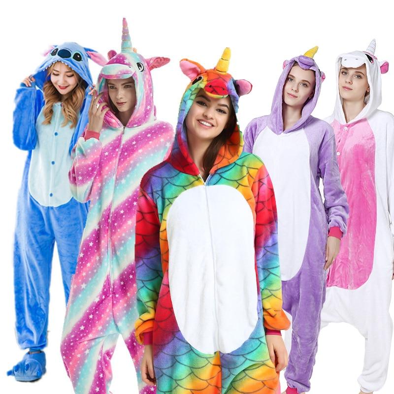 AFEENYRK unicorn Womens Soft comfortable Pajamas Set Sleepwear Loungewear Pajamas Unisex Homewear For girl/ boys/Sleepwear Adult