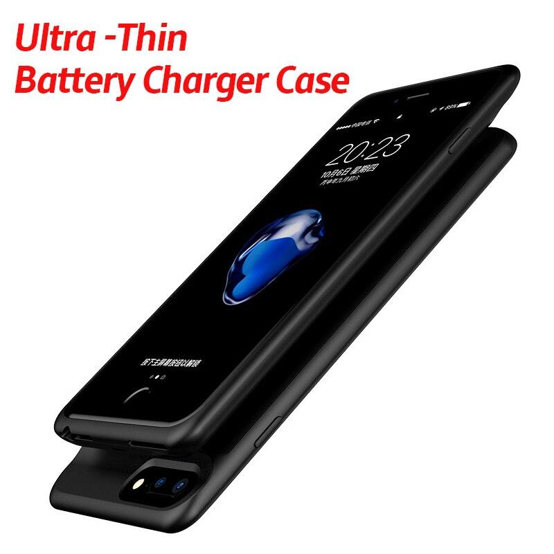 2500 mAh/5000 mAh funda de Batería Externa para iPhone 6 6s 7 8 3700 mAh/7000 mAh Banco de la energía del teléfono carcasa para iPhone 6 6S 7 7 Plus