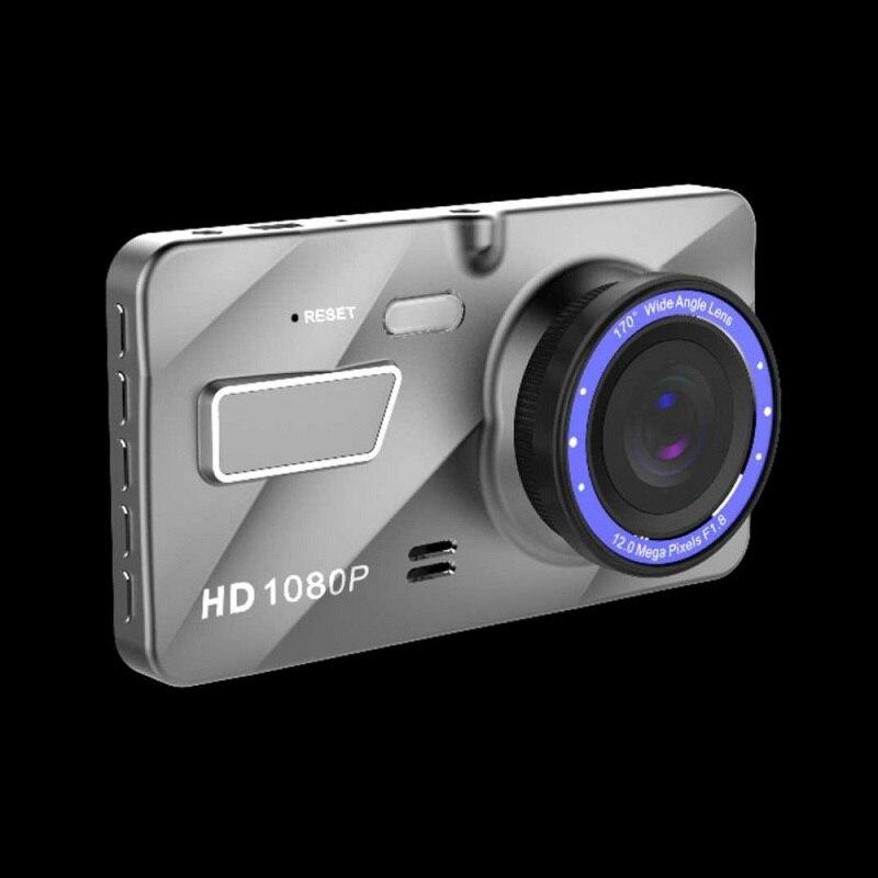 DVR do carro de 4 Polegada A10 Full HD 1080 P Dual Lens Veículo 170 Graus Traço Câmera de Vídeo Visão Grande Angular de Movimento Gravação em Loop detecção