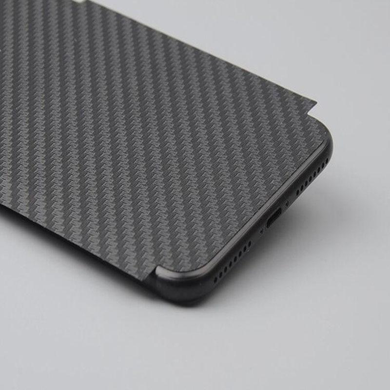 5 piezas de película negra para iPhone XR XS MAX de fibra de carbono suave para iPhone 11 Pro Max 6s 7 8 PLUS Protector de pantalla trasera