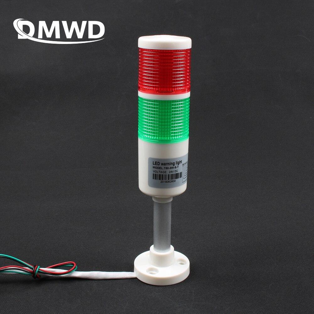 2 вида цветов, промышленная сигнальная башня, безопасный стек, сигнальная лампа, лампа красного, зеленого цвета, светодиодная белая, пластиковая, комнатная, 2 слоя с базой