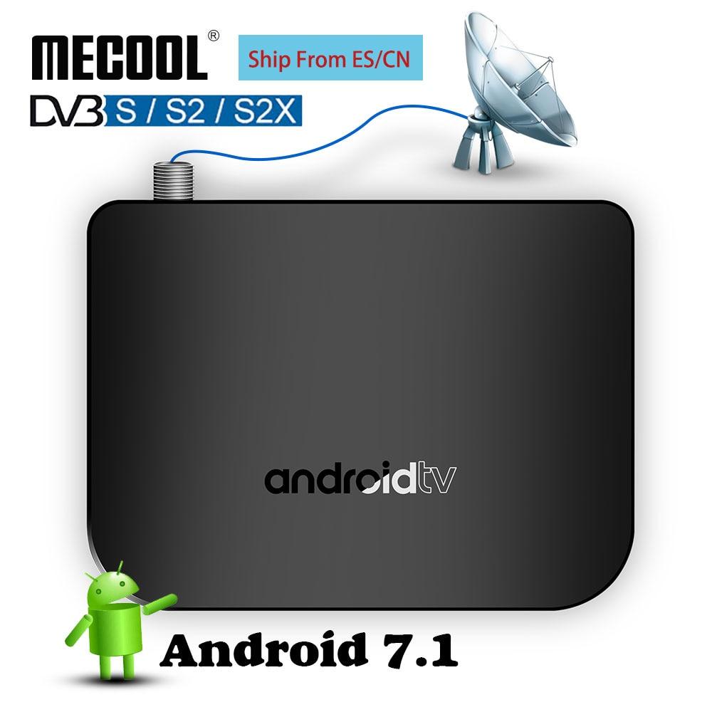 TV Smart TV DVB-S Android TV Box Amlogic S905D 1G ROM 8G RAM 2,4G WiFi 100M DVB S/S2 Mini M8S Plus DVB Satellite Media Player