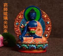 Harz buddha statue Bhaisajyaguru figur Bhaisajya Buddha figur medizin Buddha bodhisattva glück