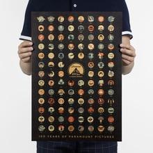 100 년 Paramount 사진/할리우드 영화/크래프트 지/바 포스터/복고풍 포스터/장식 그림 51x35.5cm Higt 품질
