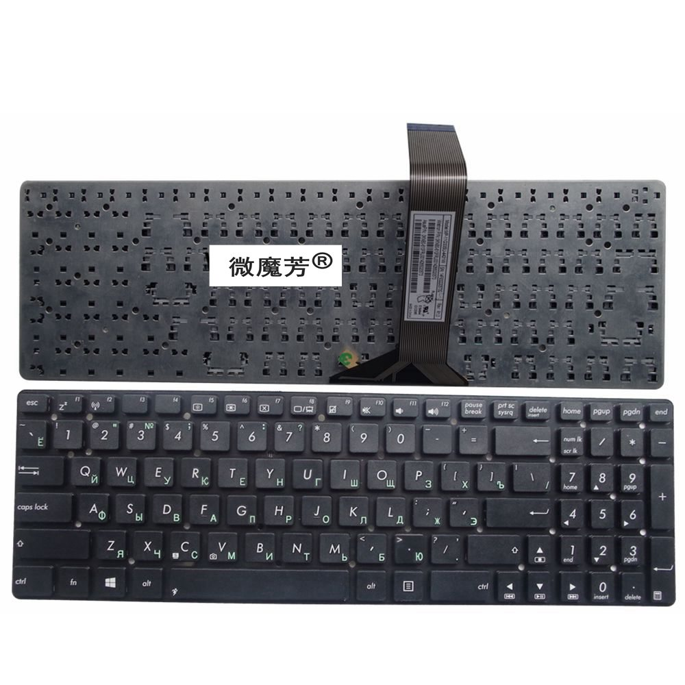 RU черный новый для Asus K55A A55C R500 R700 A55 K55 K55DE K55N K55VJ A55V K55V A55VM A55VD K55VD R500v R700V клавиатура русская