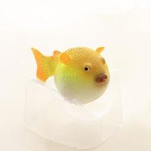 Aquarium Fish Tank Puffer Fish Aquarium Artificial Puffer Fish Tank Decor Glowing Effect Man-made Fish 1pcs