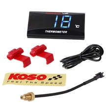KOSO Mini Water Temperature Meter For XMAX250 300 NMAX CB 400 CB500X Temp Sensor Adapter Scooter Racing Motorcycle Accessories