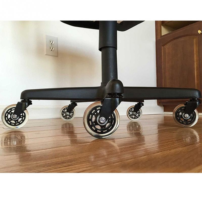 5PCS Universal wheel 40KG Wheel Office Chair Swivel Rubber Rollers Wheels Furniture Hardware
