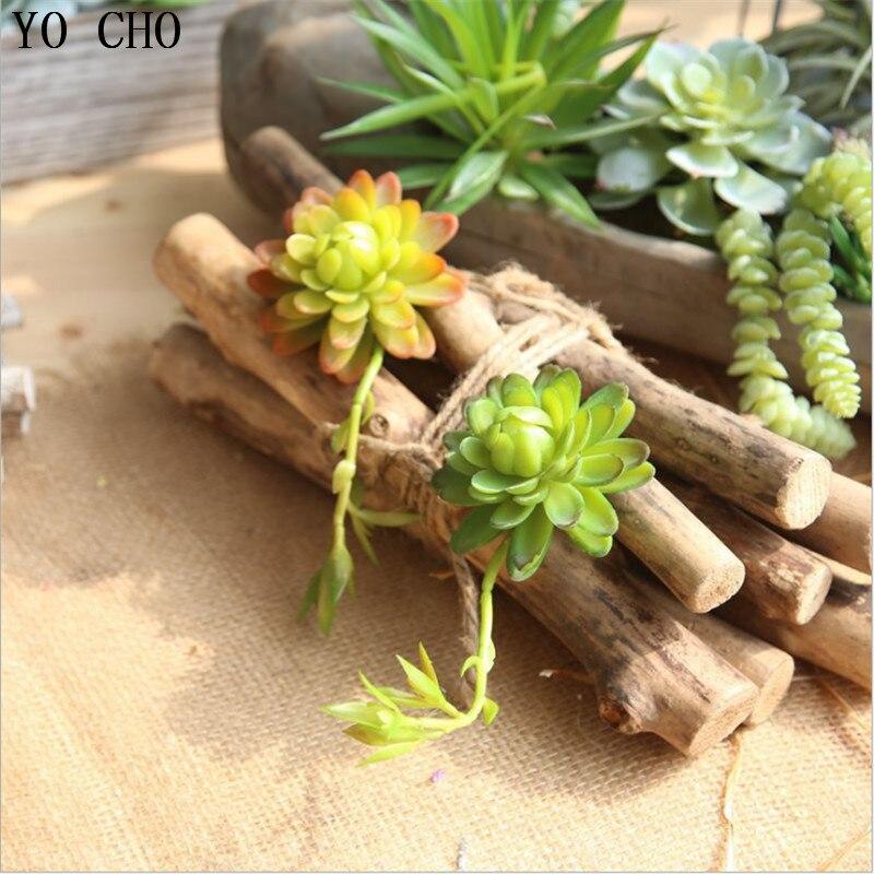 Yo cho 1pc barato suculentas artificiais planta de lótus casa jardim escritório decoração do quintal diy falso flor pátio mobiliário decoração