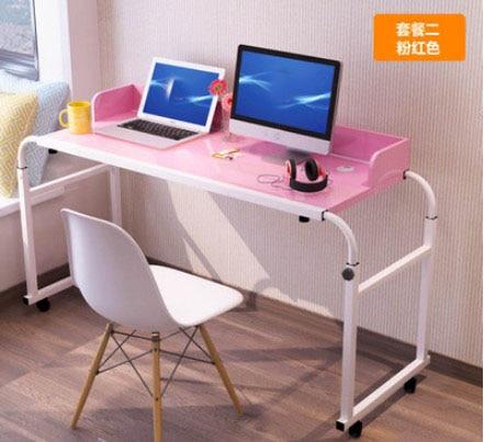 Mesa portátil multiusos de 120x45 CM para mesita de noche, mesa extraíble para ordenador, escritorio perezoso para ordenador portátil, escritorio de oficina de estudio para niños con ruedas