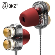 Echtes QKZ KD7 Kopfhörer Dual Fahrer Sport Kopfhörer 3,5mm Jack Headset Hände Frei mit Mikrofon Musik Kopfhörer für Alle telefon Pc
