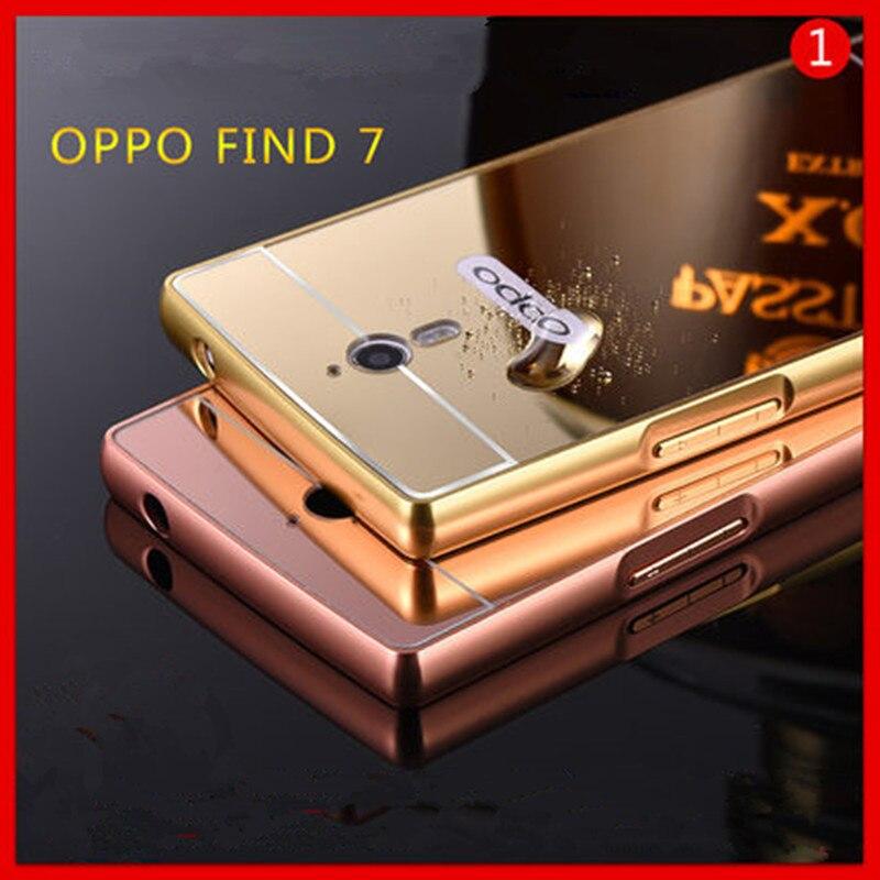Чехол для OPPO Find 7, роскошный зеркальный металлический алюминиевый чехол + задняя крышка для Find7 X9007 X9077, сумка, аксессуары, чехол