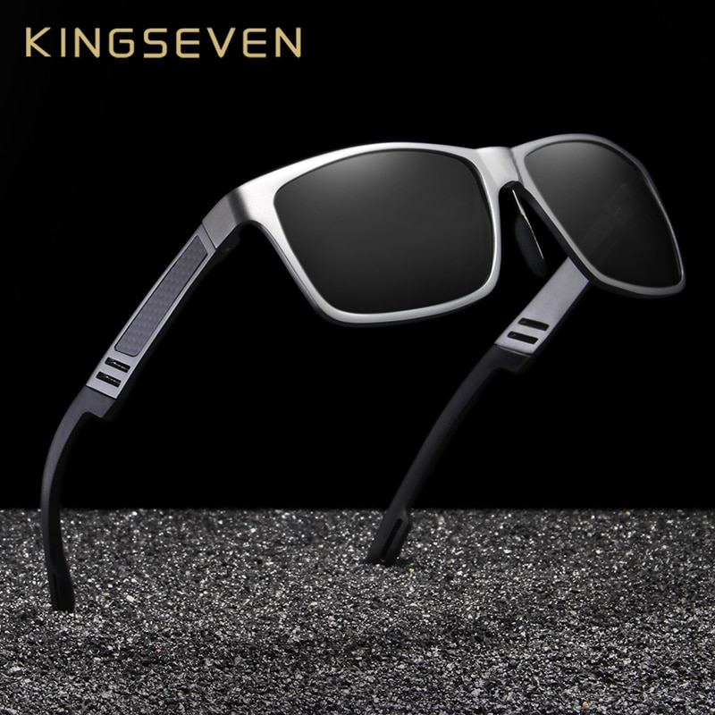 Gafas de sol KINGSEVEN nuevas, Gafas de sol polarizadas Unisex para hombre, montura metálica para conducir, Gafas de sol Retro para mujer, Gafas de sol