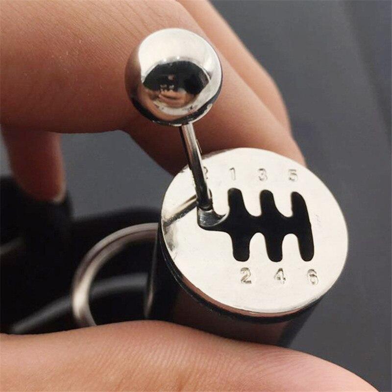 BISI GORO Housekeeper Zinc Alloy Car Organizer With Metal Mini Gear DIY EDC Key Holder Business Keychain Creative Key Wallets