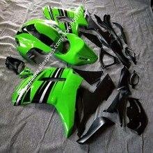Carmette complet pour KAWASAKI ZX6R   Vert noir, 07 08 2007-2008 ZX 6R 636 07 08 6R, kit du corps 2007 2008