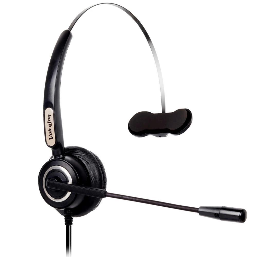 Гарнитура VoiceJoy RJ9/RJ10 с микрофоном для телефона AVAYA 1603 1608 1616 9608 9610 9620 9640 9650 Yealink T21 T22 T26 и т. Д.