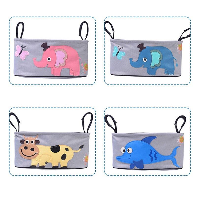 Impermeable cochecito de bebé organizador bolsa carrito colgante almacenamiento bolsa de accesorio para carrito elefante bolsa de pañales organizador