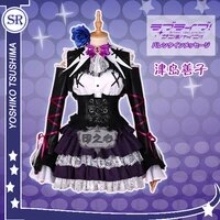 anime lovelive sunshineaqours team gk figure tsushima yoshiko gothic sj uniform dress halloween cosplay costume suit for women